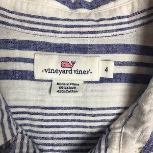 Vineyard Vines Tops - Vineyard vines blue stripe linen pop over top 4